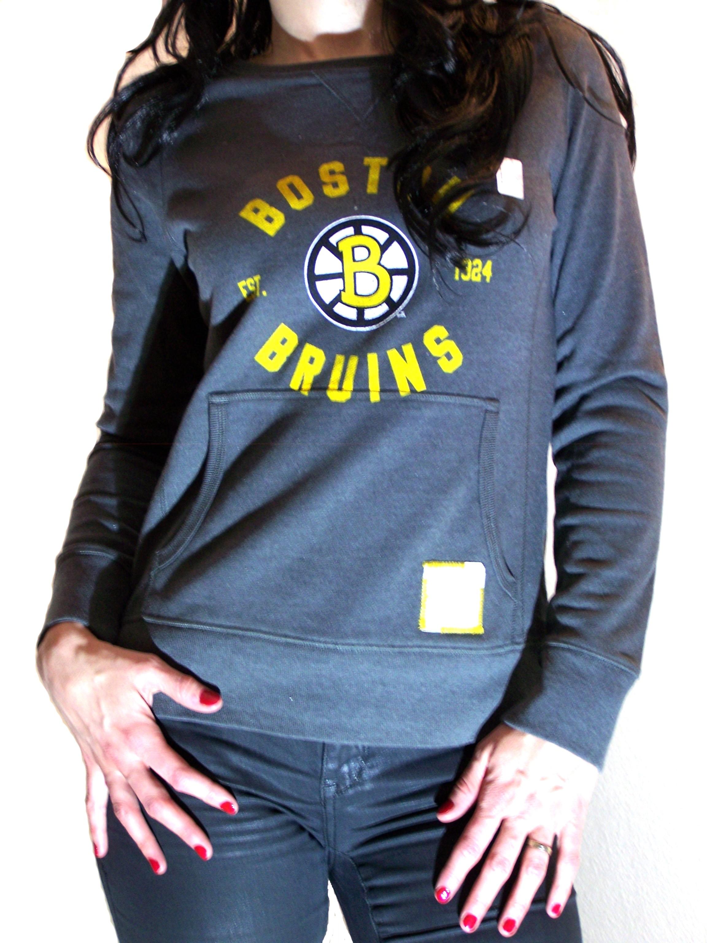 Crew Nhl Des De Neck Bruins Boutique Boston Femme 43SjL5RqcA